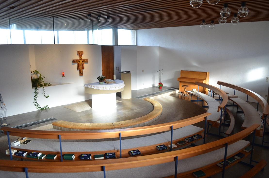 Kapelle im Franziskushof, katholisch geweiht, für Andachten und Gottesdienste