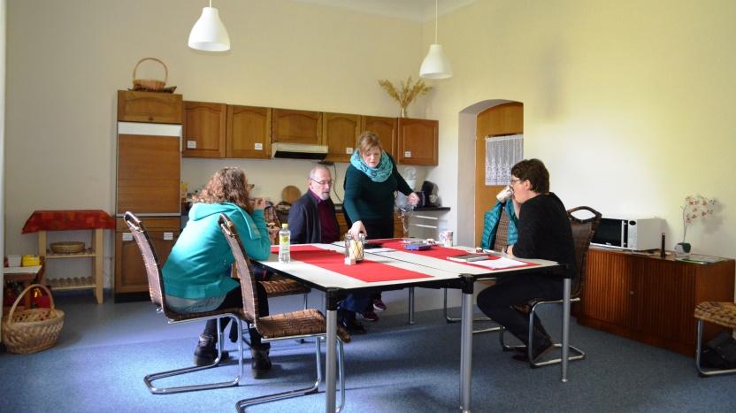 Gästeküche im Franziskushof zur Selbstversorgung oder zum Kaffeetrinken