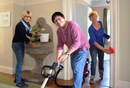 Zimmerservice Hilfe während der Werkwoche auf Schloss Craheim