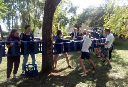 Spiel und Spaß bei der Hearbeat Freizeit für Junge Erwachsene zur Stärkung der Gemeinschaft