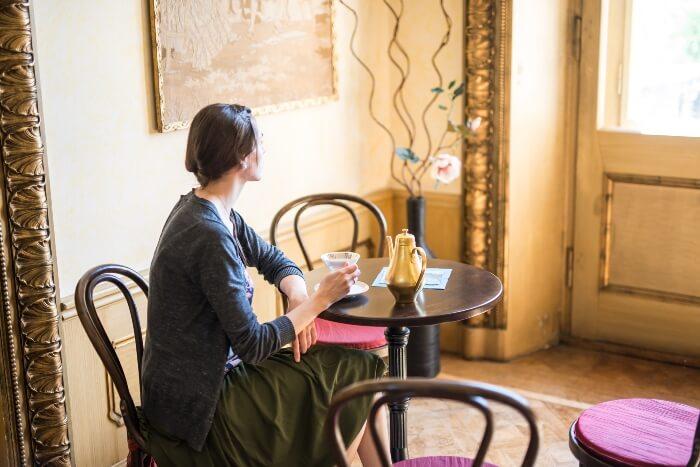 Das Schlosscafé zum gemütlichen Beisammensein in einer Pause während der Seminare und Tagungen