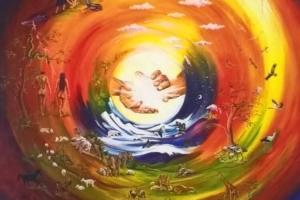 Bild von der Erschaffung der Erde