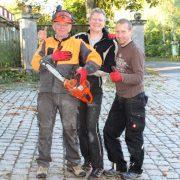 Betreuer der Werkwoche drei Hausmeister