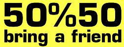 Freundesaktion Symbol 50% Rabatt