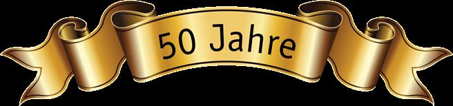 Banner des Jubiläums 50 Jahre