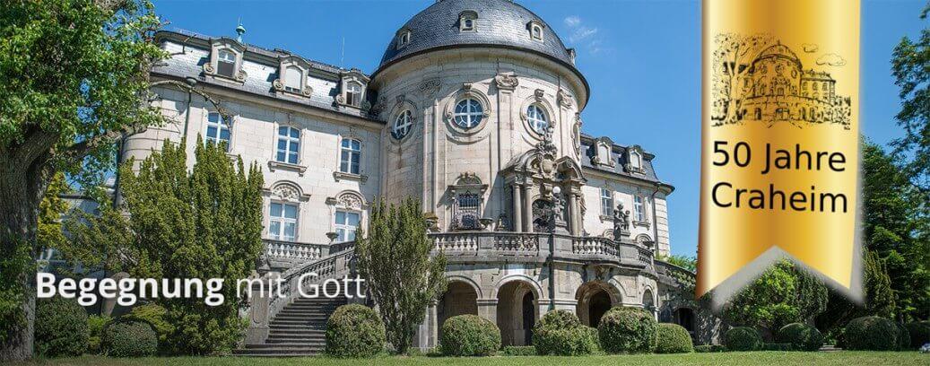Slider Begegnung mit Gott und Jubiläum Design Schloss Craheim